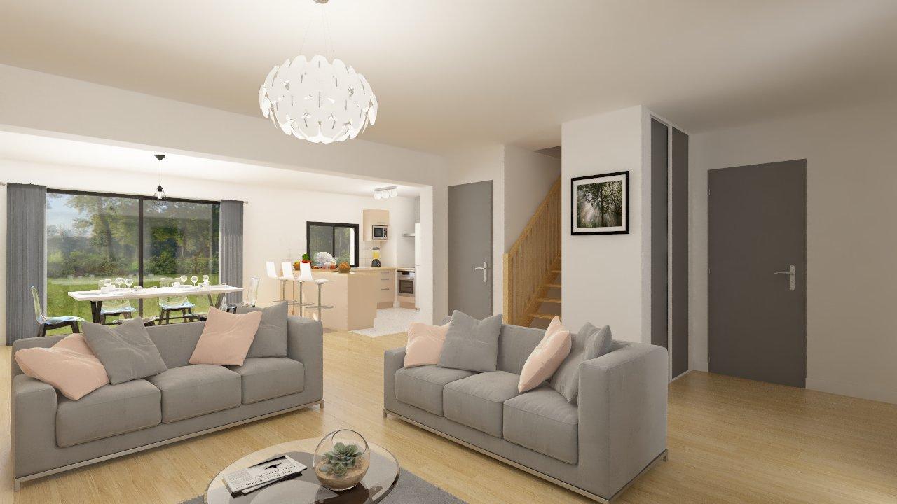 Maisons + Terrains du constructeur MAISON FAMILIALE RENNES • 108 m² • BOURG DES COMPTES