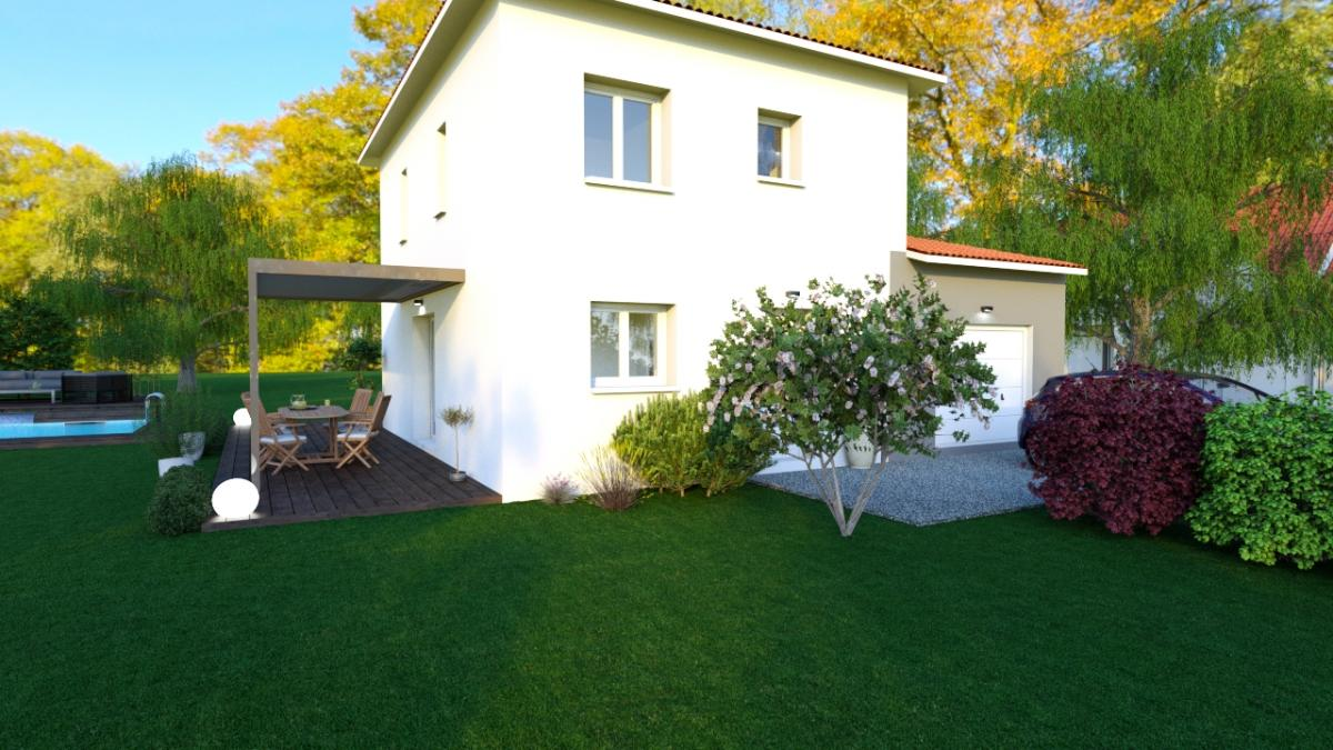 Maisons du constructeur ESQUISS 69 • 101 m² • SAINT SYMPHORIEN D'OZON