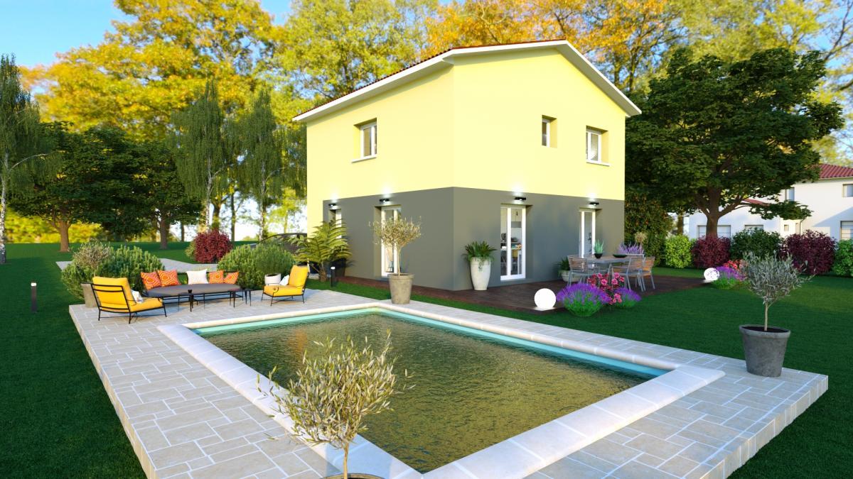 Maisons du constructeur ESQUISS 69 • 95 m² • CHAMBOST LONGESSAIGNE