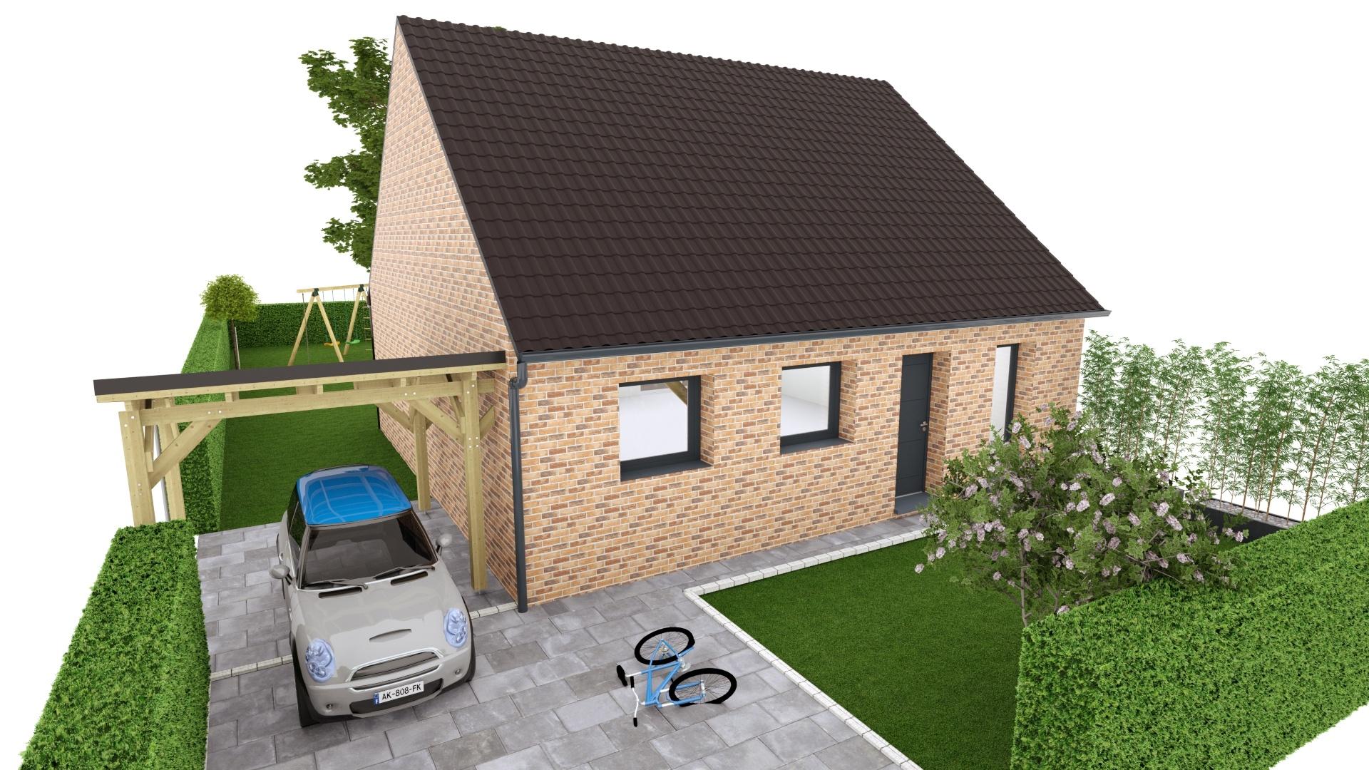 Maisons + Terrains du constructeur MAISON EUREKA • 80 m² • ESTAIRES