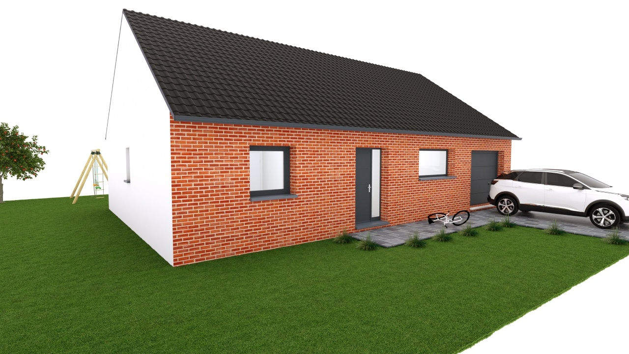 Maisons + Terrains du constructeur MAISON EUREKA • 90 m² • BAILLEUL