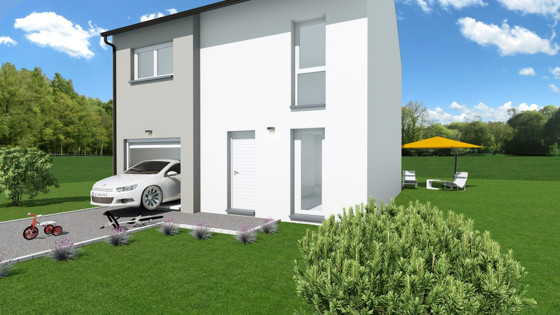Maisons + Terrains du constructeur MAISON EUREKA • 90 m² • WAVRIN