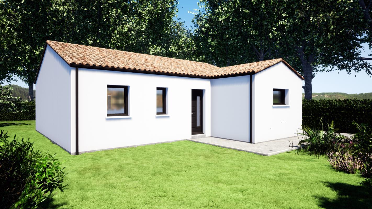 Maisons du constructeur DESIGN HABITAT • 80 m² • SAINT VIAUD