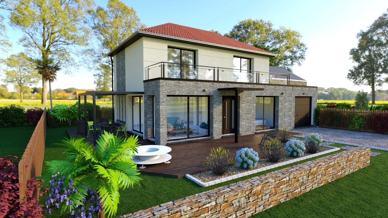 Maisons + Terrains du constructeur DESIGN HABITAT • LA TURBALLE