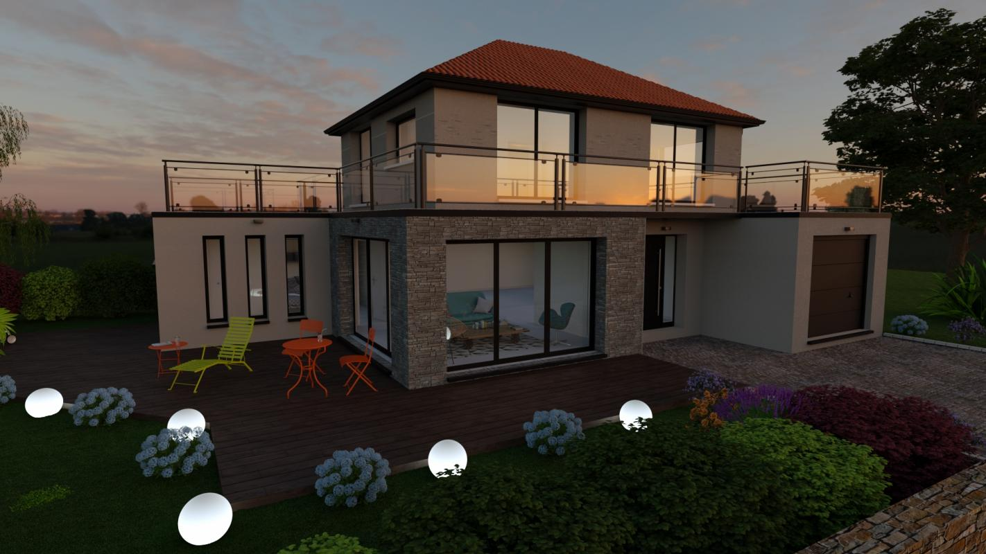 Maisons + Terrains du constructeur DESIGN HABITAT • GUERANDE