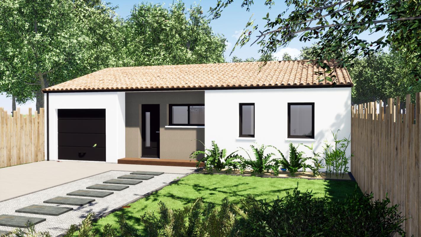 Maisons du constructeur DESIGN HABITAT • 80 m² • BOURGNEUF EN RETZ