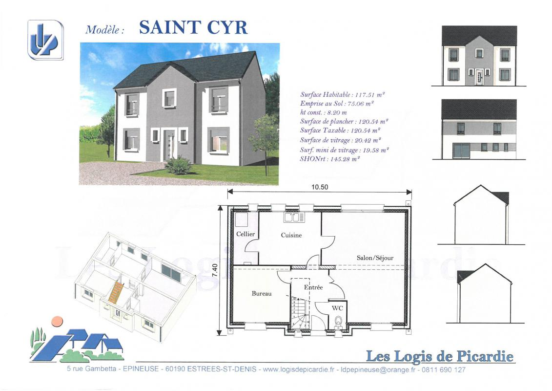 Maisons du constructeur LDP • 117 m² • LE PLESSIS BOUCHARD