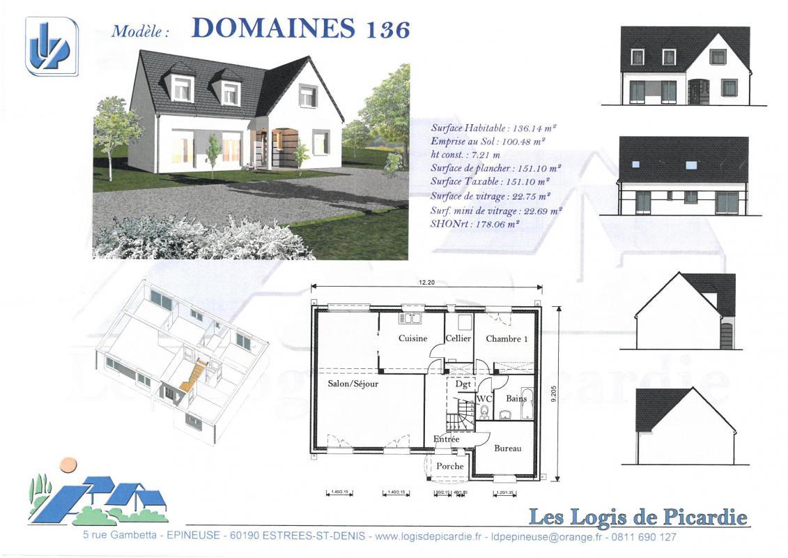 Maisons du constructeur LDP • 136 m² • MARINES