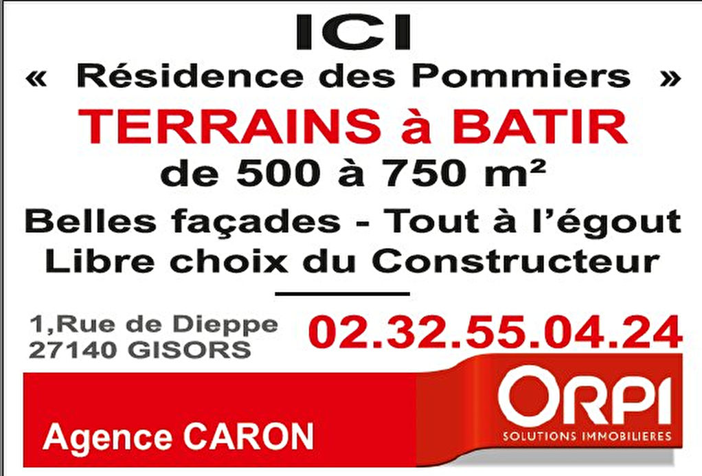 Terrains du constructeur ORPI AGENCE CARON • 532 m² • GISORS