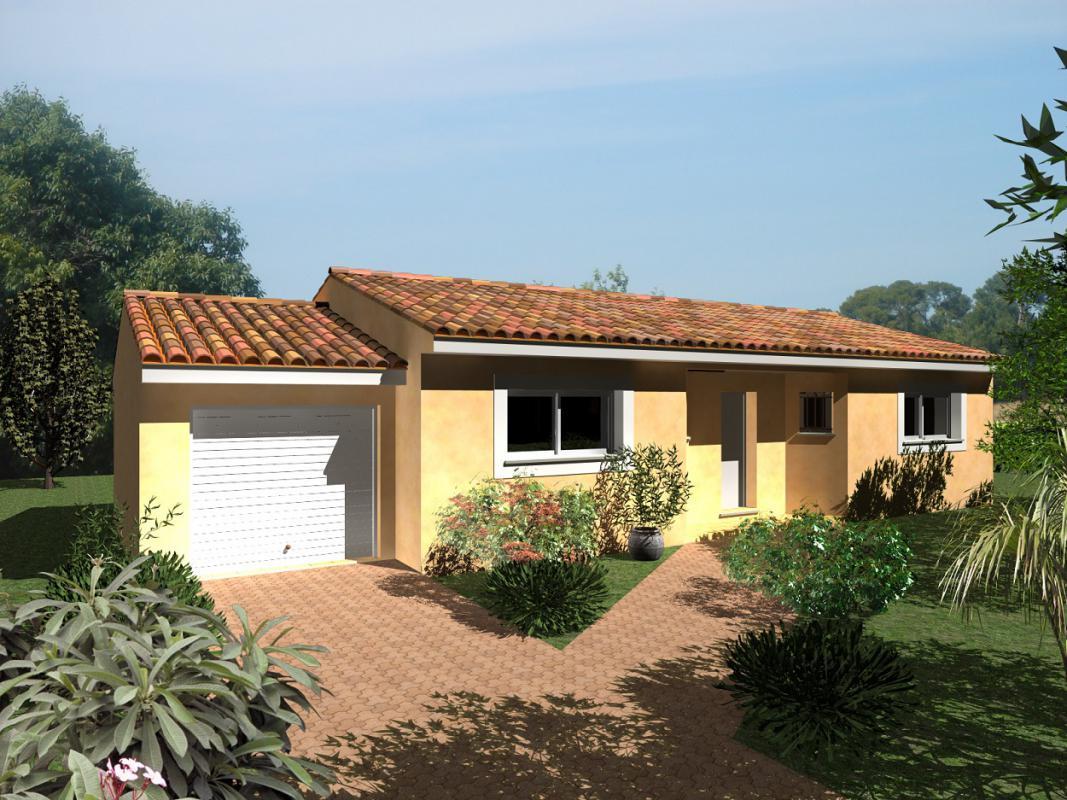 Maisons + Terrains du constructeur MAISONS CLAUDE RIZZON MEDITERRANEE • 90 m² • BEAUVOISIN
