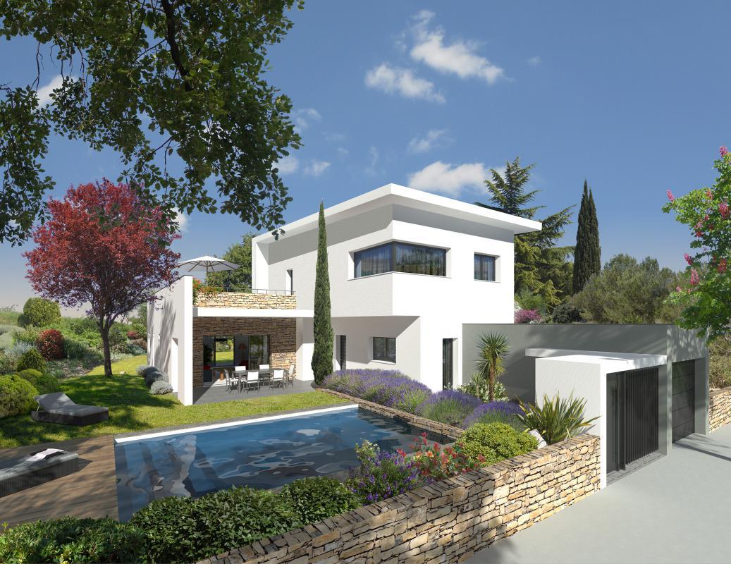 Maisons + Terrains du constructeur MAISONS CLAUDE RIZZON MEDITERRANEE • CASTELNAU LE LEZ