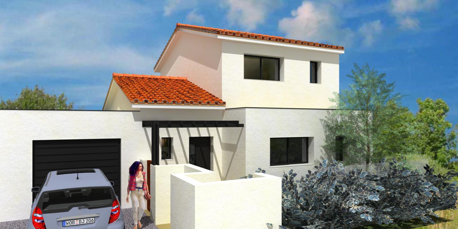 Maisons + Terrains du constructeur MAISONS CLAUDE RIZZON MEDITERRANEE • MURVIEL LES MONTPELLIER