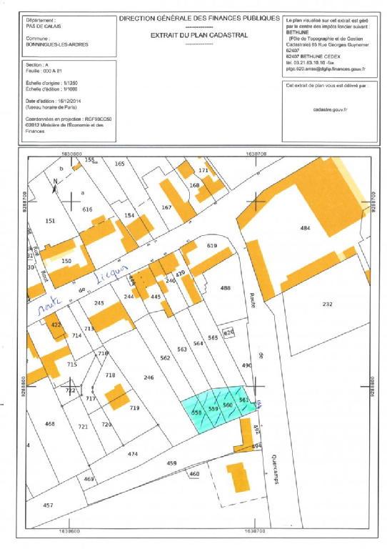 Terrains du constructeur SCP GALLET BROUSSE • 632 m² • BONNINGUES LES ARDRES
