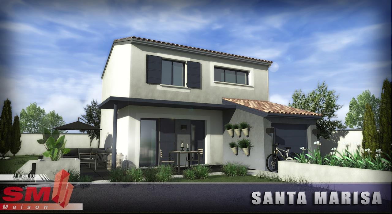Maisons + Terrains du constructeur GROUPE SM PROMOTION • 90 m² • SALLES D'AUDE