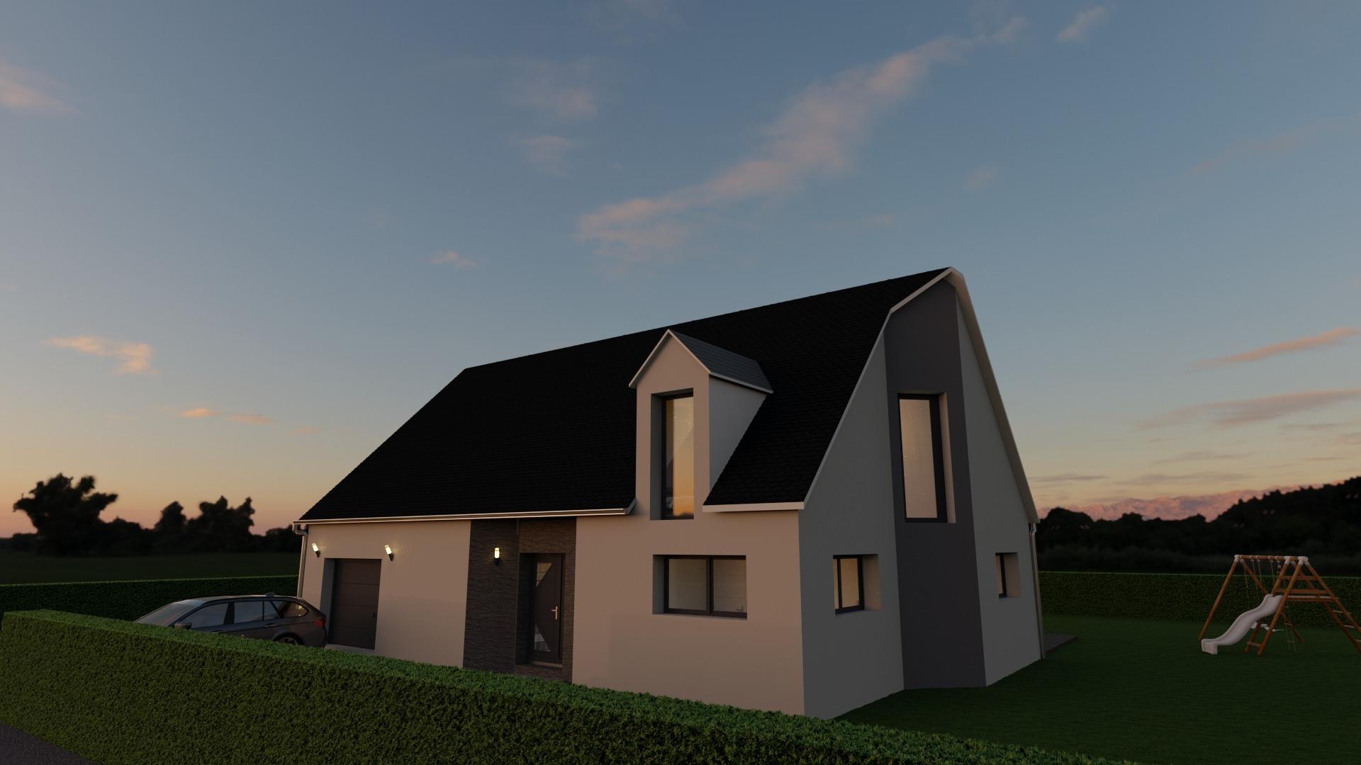 Maisons + Terrains du constructeur GEOXIA NORD OUEST • 130 m² • MONT CAUVAIRE