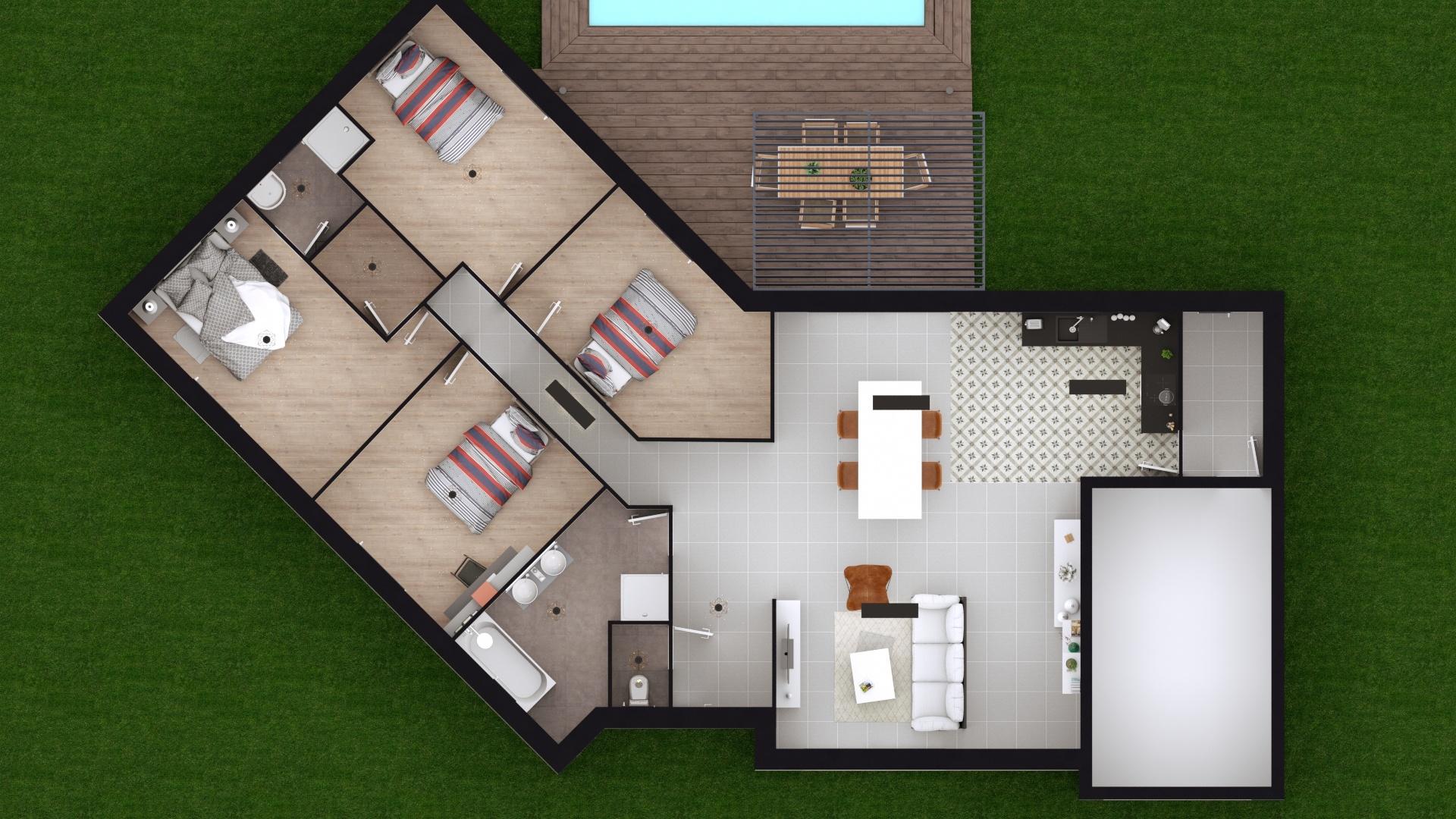 Maisons + Terrains du constructeur GEOXIA NORD OUEST • 125 m² • SAINT JACQUES SUR DARNETAL