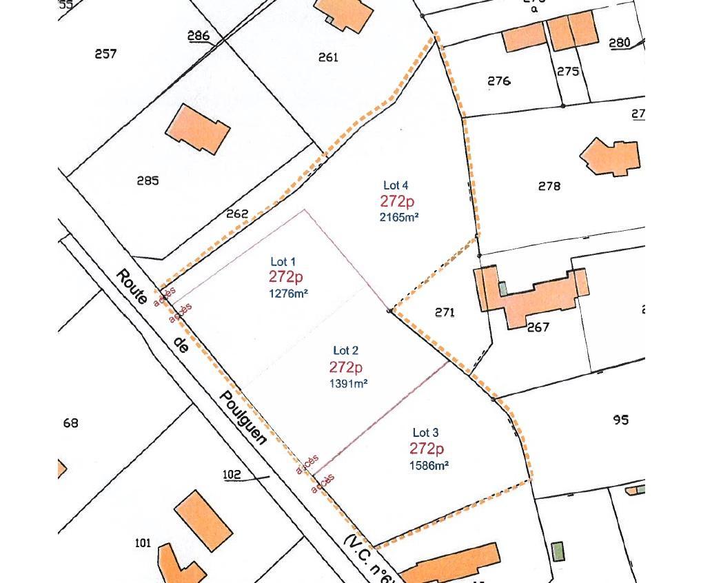 Terrains du constructeur Mes Stéphane LE PAPE et Mathieu LACOURT • 1391 m² • PENMARCH
