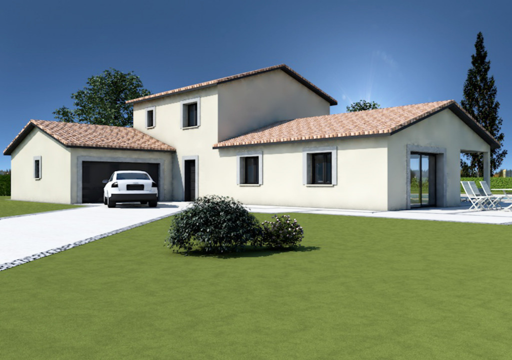 Maisons + Terrains du constructeur MAISONS ARLOGIS MACON • 110 m² • SAINT MAURICE DE SATONNAY