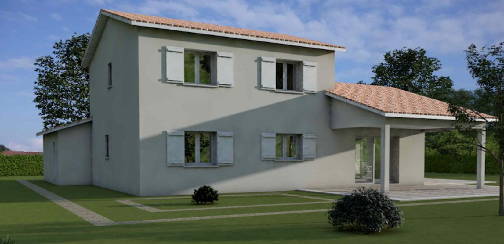 Maisons + Terrains du constructeur MAISONS ARLOGIS MACON • 125 m² • MARBOZ