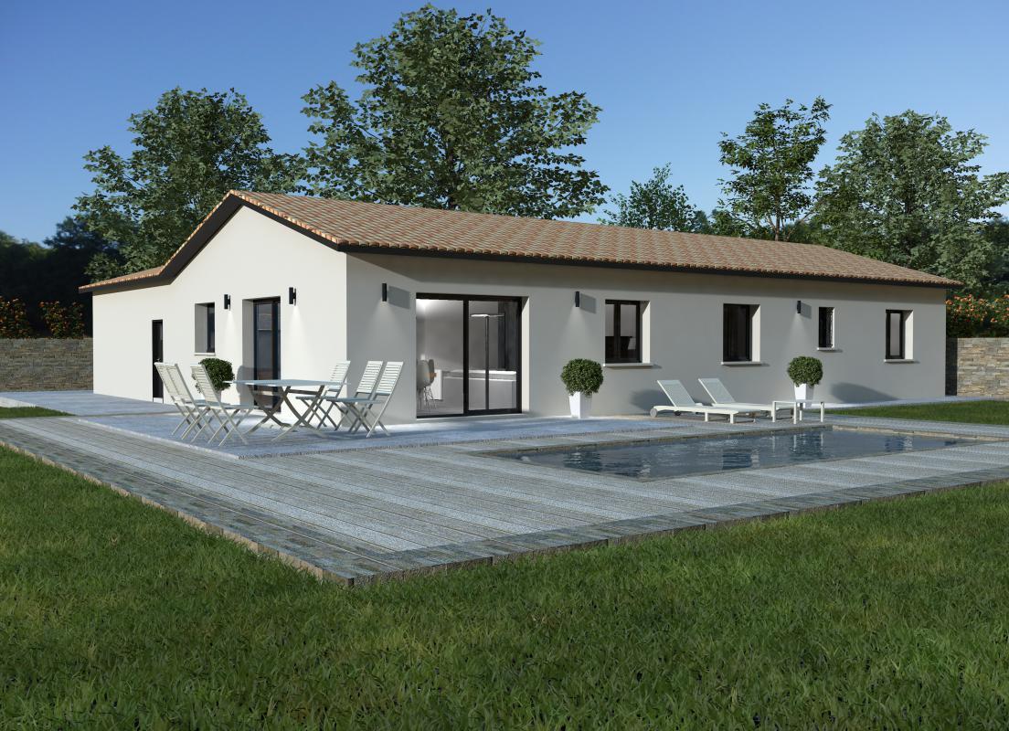 Maisons + Terrains du constructeur MAISONS ARLOGIS MACON • 124 m² • CHARDONNAY