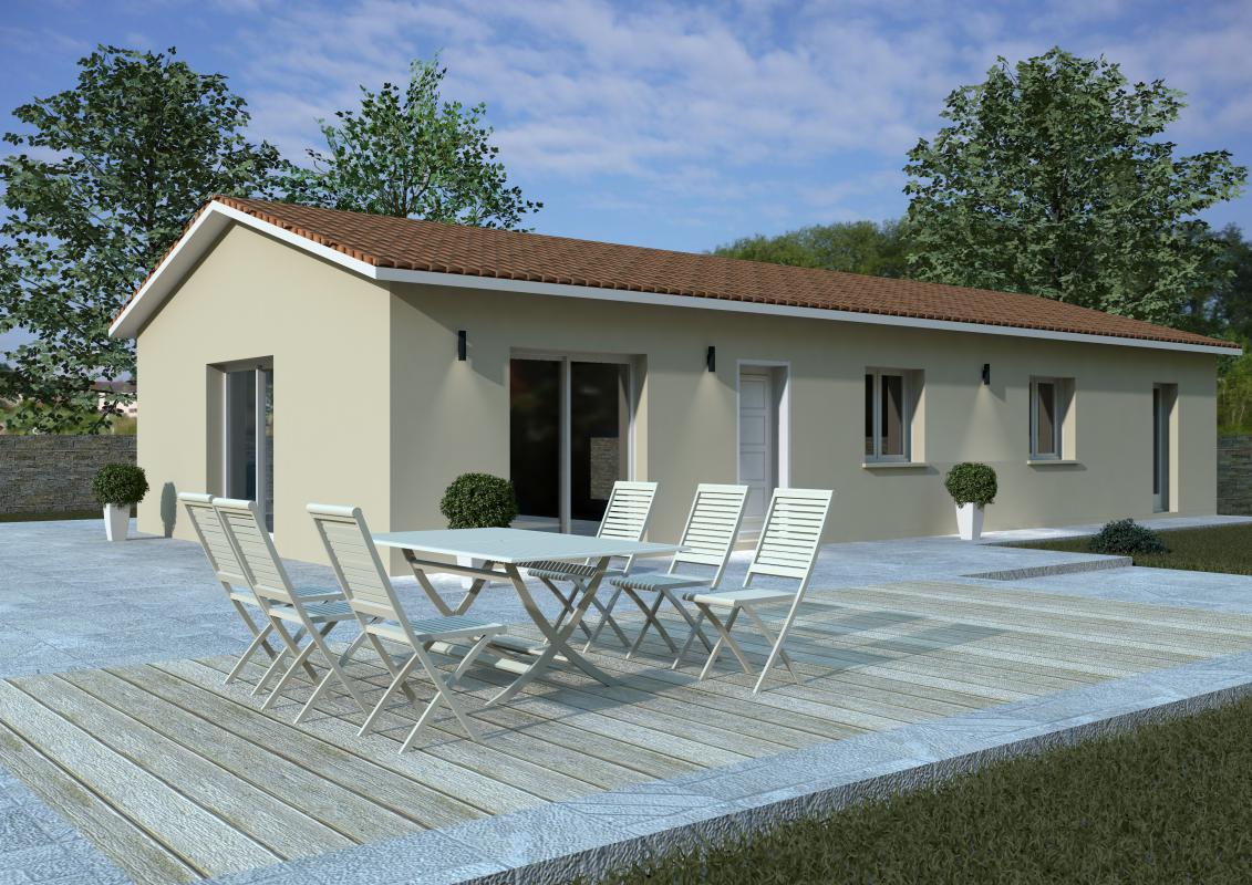 Maisons + Terrains du constructeur MAISONS ARLOGIS MACON • 104 m² • FEILLENS