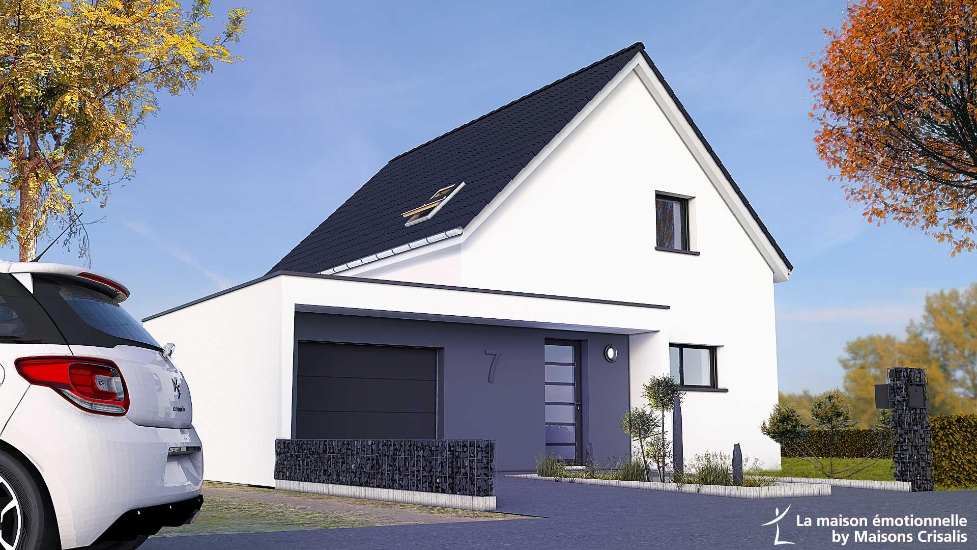 Maisons + Terrains du constructeur MAISONS CRISALIS • 90 m² • CERNAY