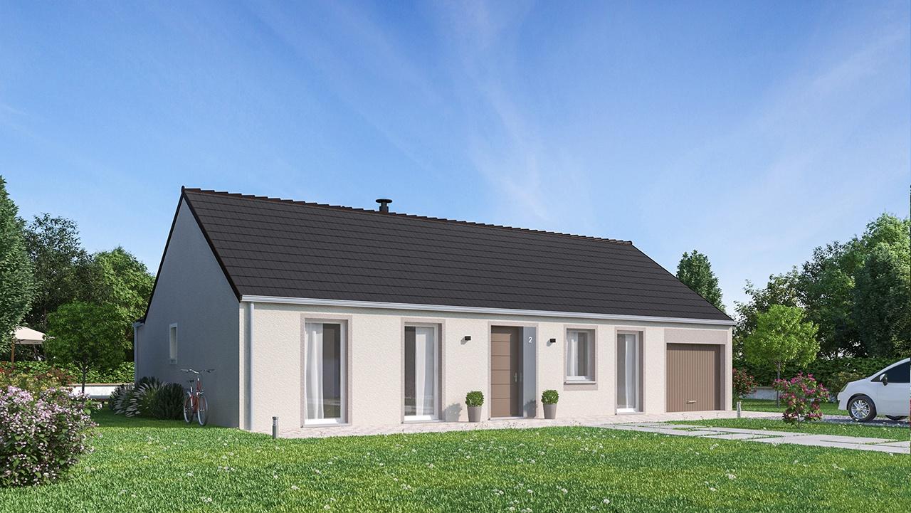 Maisons + Terrains du constructeur MAISONS PHENIX • 104 m² • COURCELLES CHAUSSY