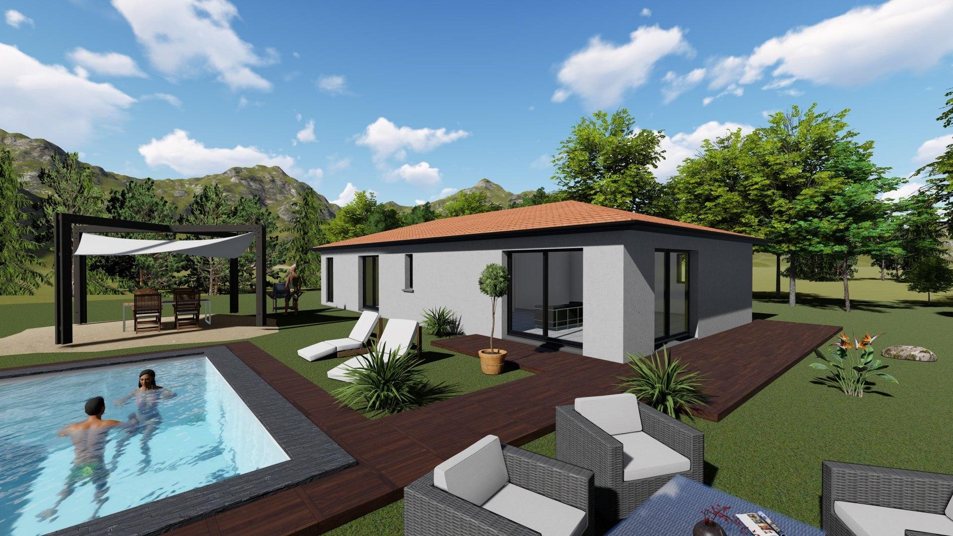Maisons + Terrains du constructeur TRADIMAISONS • 97 m² • PONT DU CHATEAU