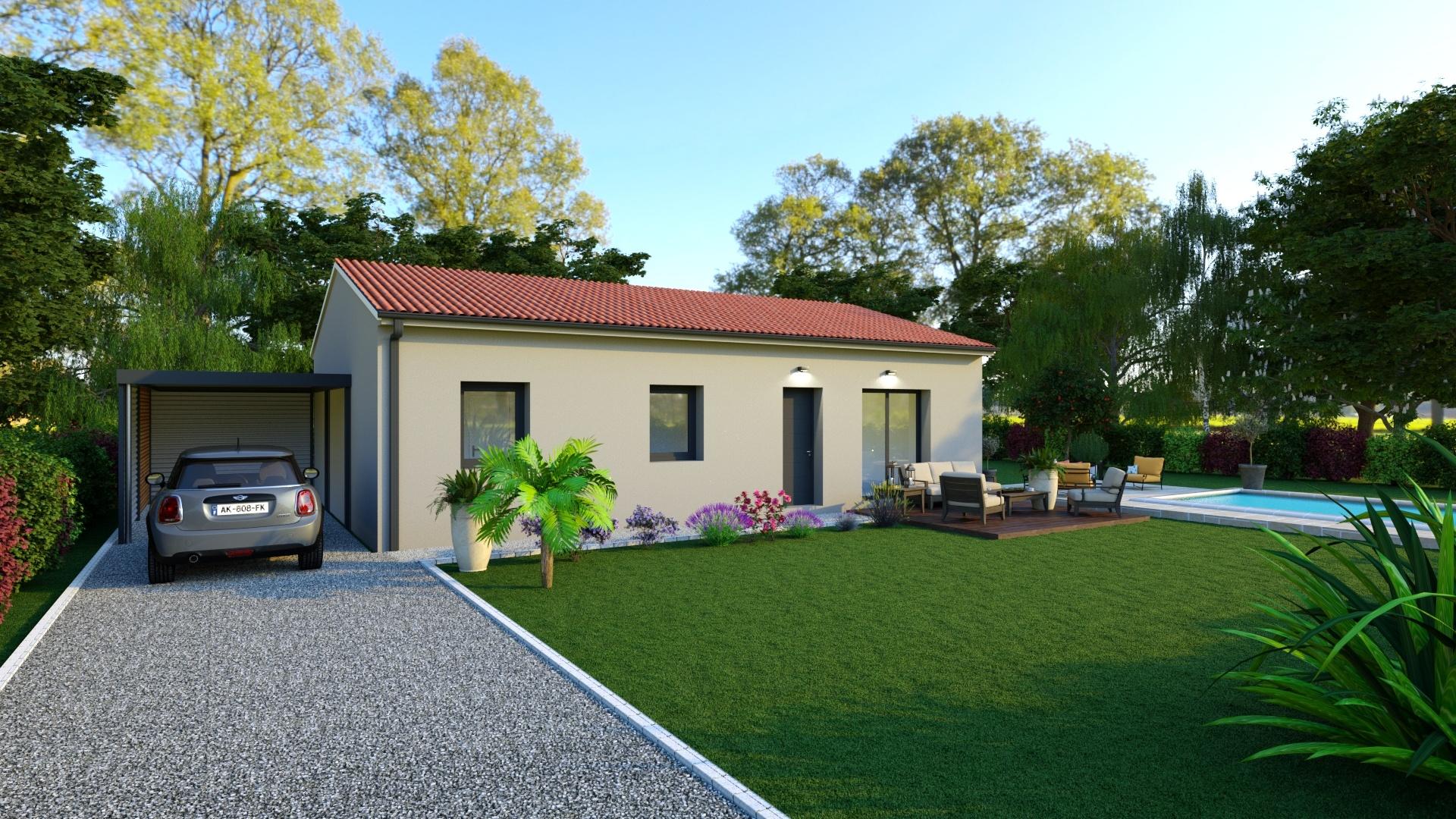 Maisons + Terrains du constructeur TRADIMAISONS • 81 m² • AULNAT