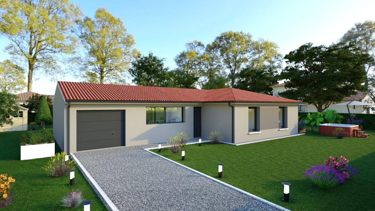 Maisons + Terrains du constructeur TRADIMAISONS •  m² • SAINT GENES CHAMPANELLE