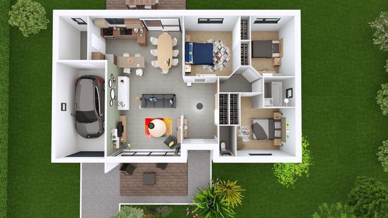 Maisons du constructeur MAISONS ELAN • 95 m² • CHAMPEIX