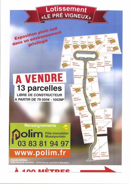 Terrains du constructeur POLE IMMOBILIER MUSSIPONTAIN • 1702 m² • PONT A MOUSSON