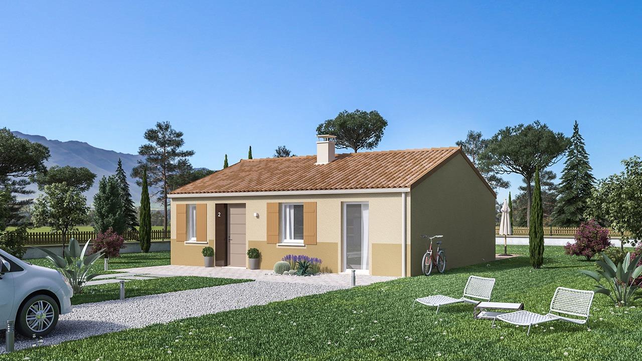 Maisons + Terrains du constructeur Maison Castor • 75 m² • CARBONNE