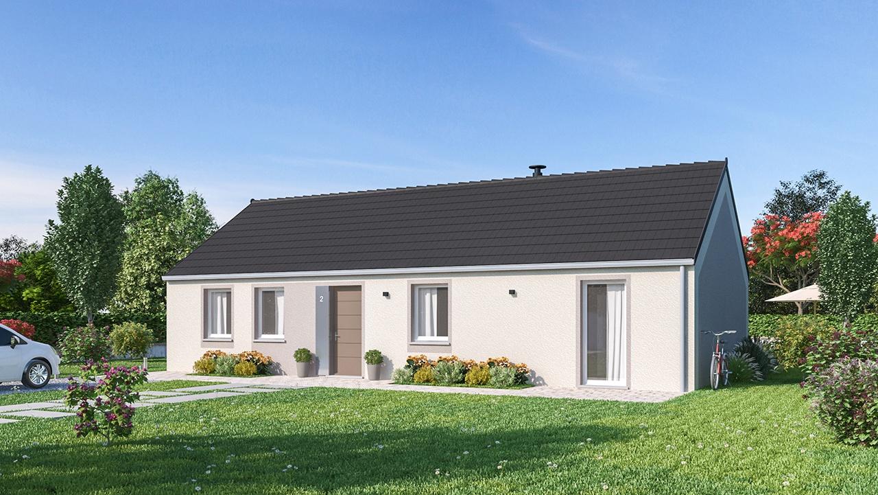 Maisons + Terrains du constructeur MAISONS PHENIX MOISSELLES/BAILLET EN FC • 96 m² • MERU