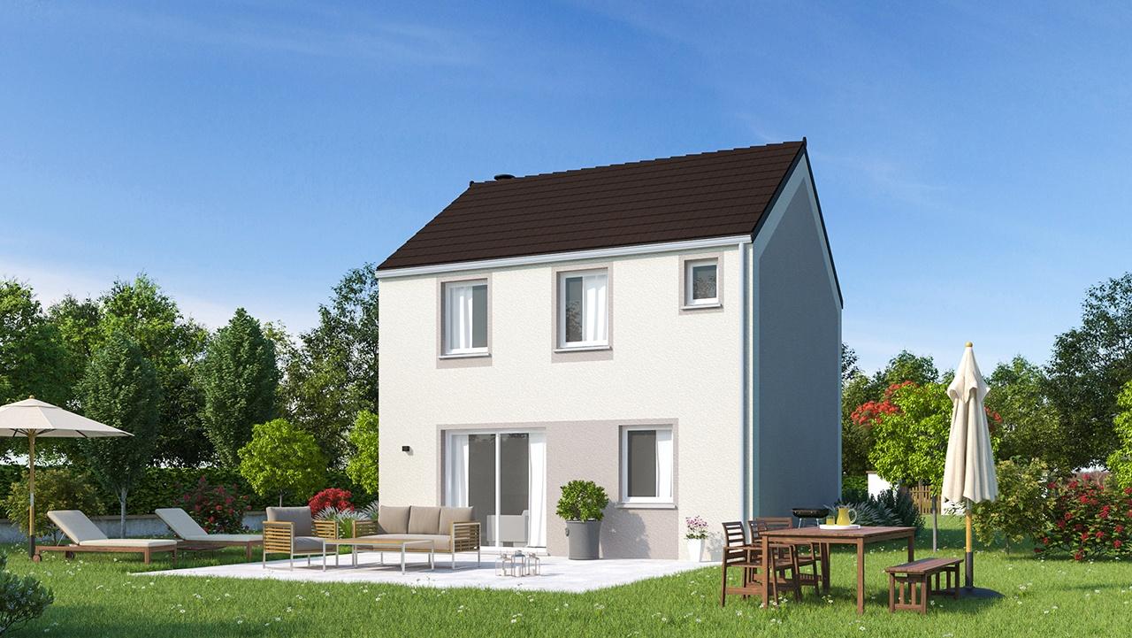Maisons + Terrains du constructeur MAISONS PHENIX MOISSELLES/BAILLET EN FC • 90 m² • MENUCOURT