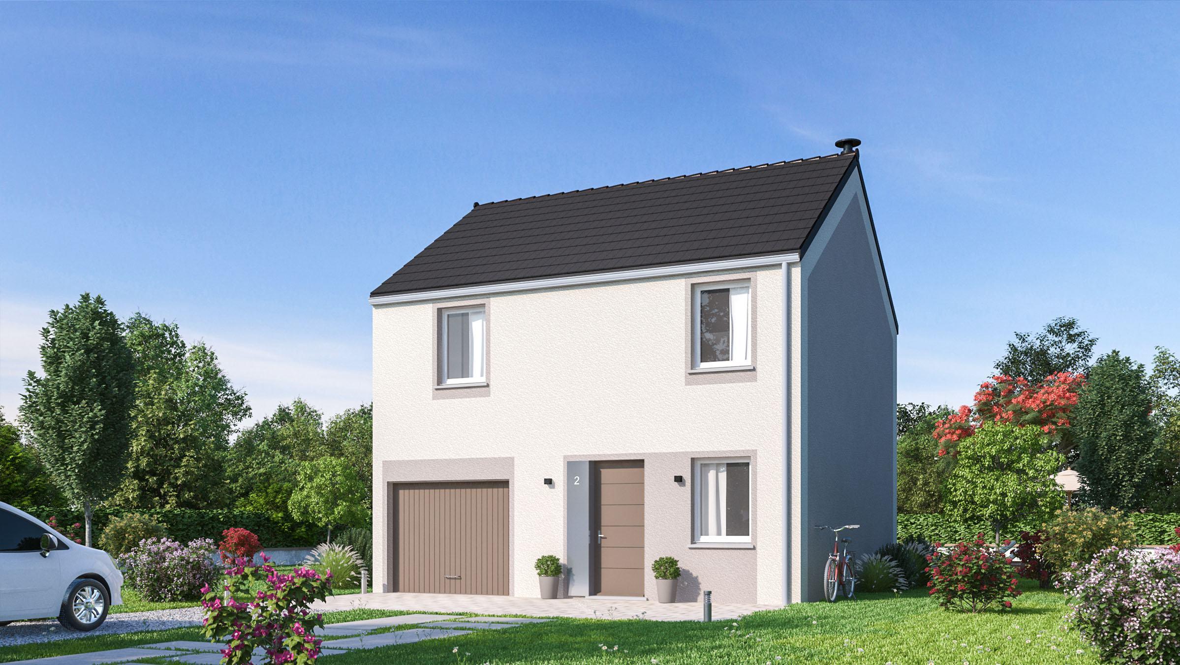 Maisons + Terrains du constructeur MAISONS PHENIX MOISSELLES/BAILLET EN FC • 83 m² • MERY SUR OISE