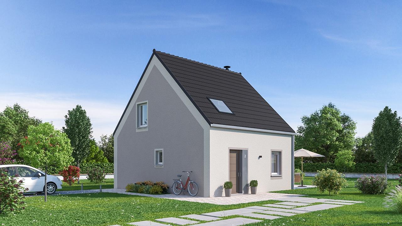 Maisons + Terrains du constructeur MAISONS PHENIX MOISSELLES/BAILLET EN FC • 88 m² • RONQUEROLLES
