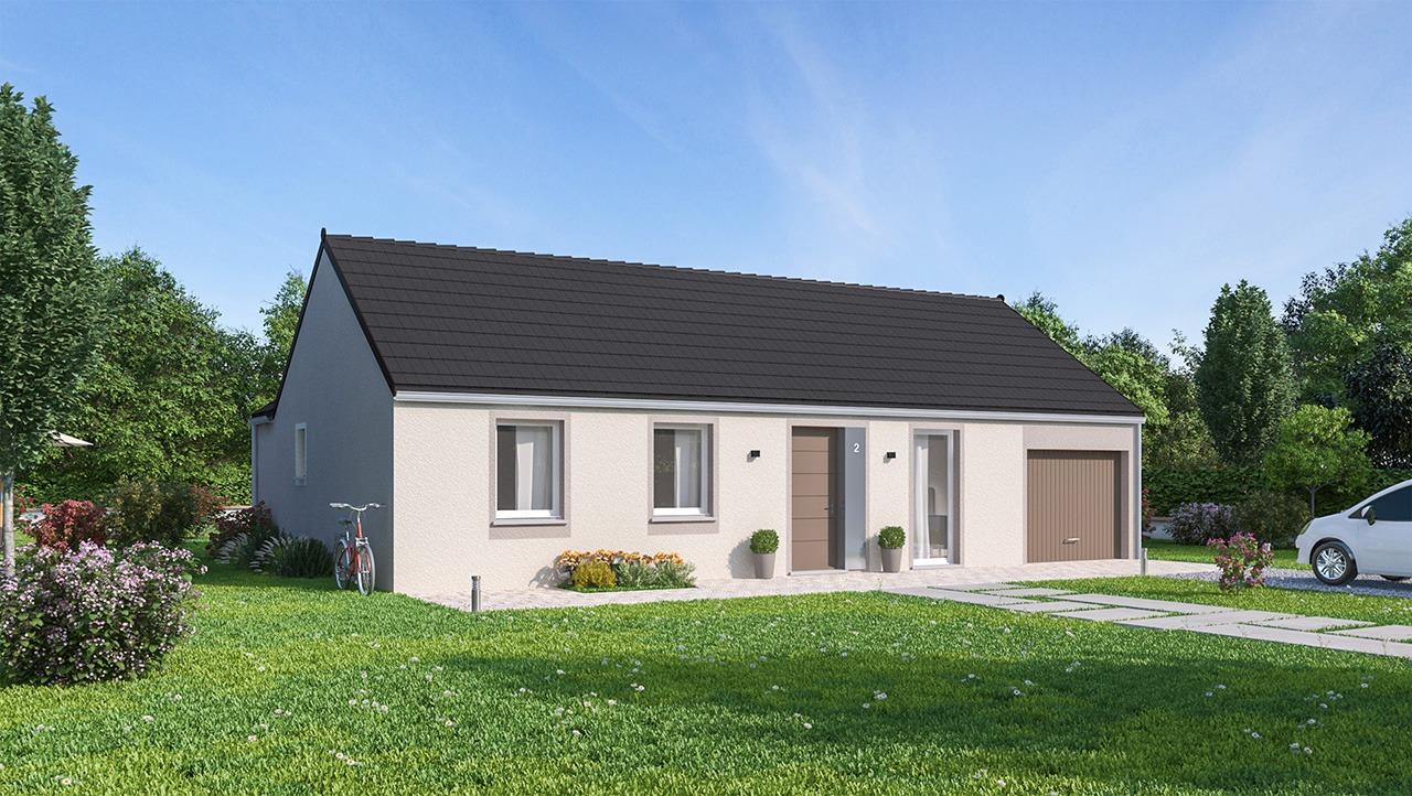 Maisons + Terrains du constructeur MAISONS PHENIX MOISSELLES/BAILLET EN FC • 84 m² • SAINTE GENEVIEVE