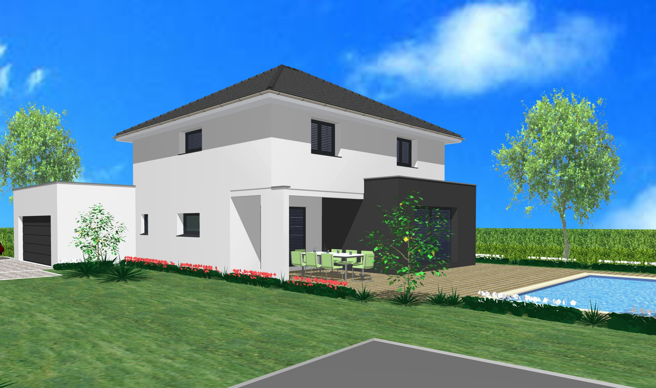Maisons du constructeur CREAGES • 145 m² • HAGENTHAL LE HAUT