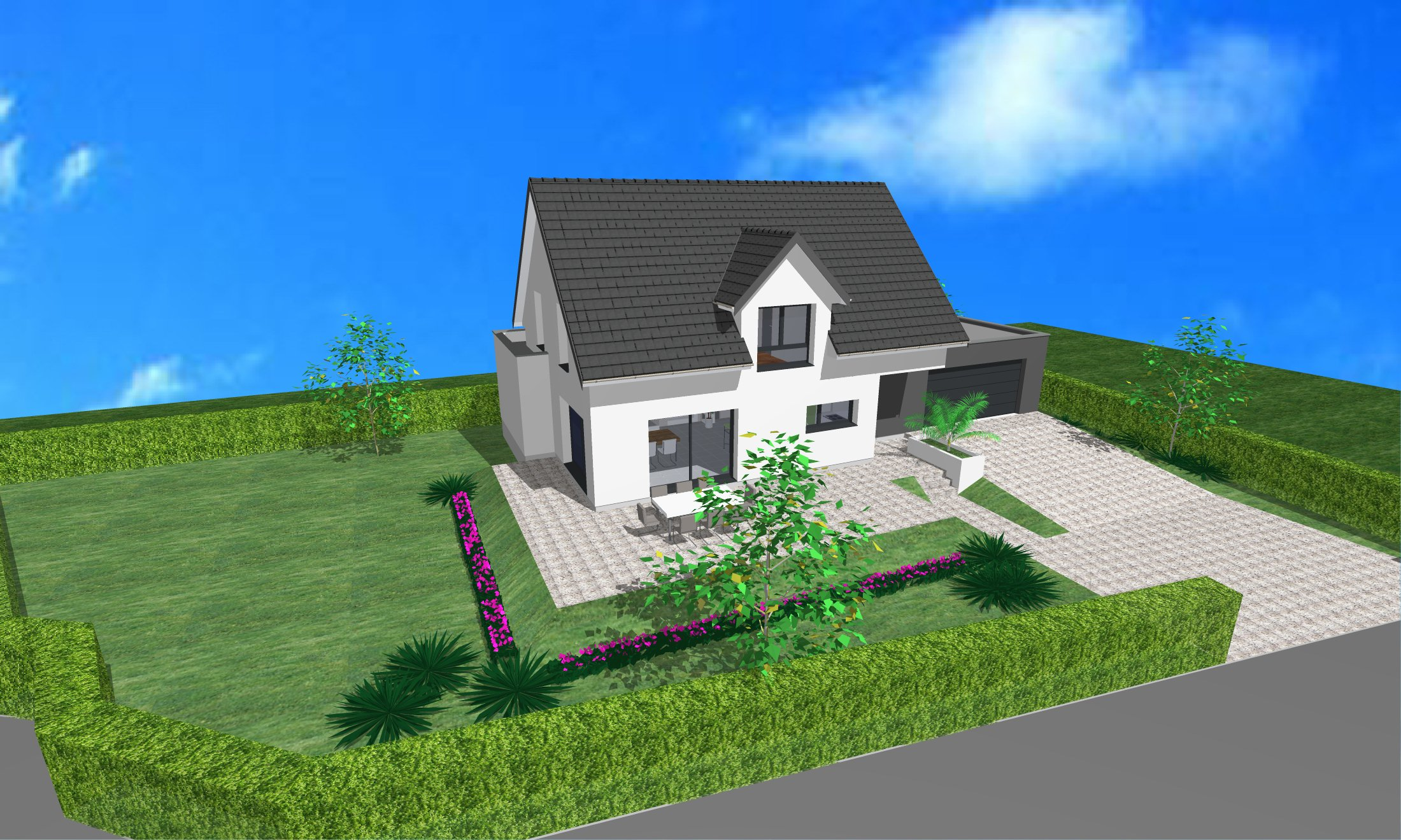 Maisons du constructeur CREAGES •  m² • ROSENAU