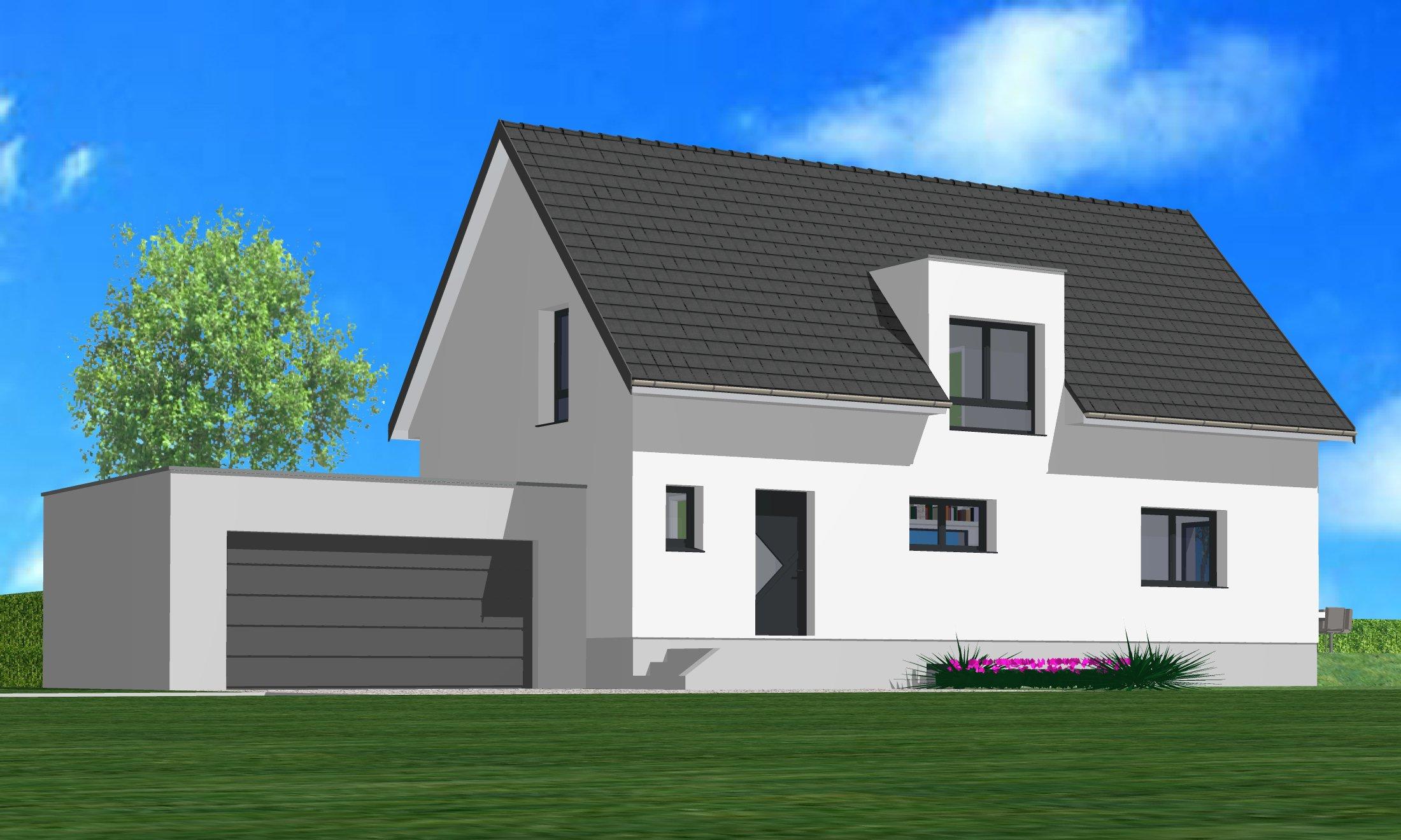 Maisons du constructeur CREAGES • 125 m² • ROSENAU