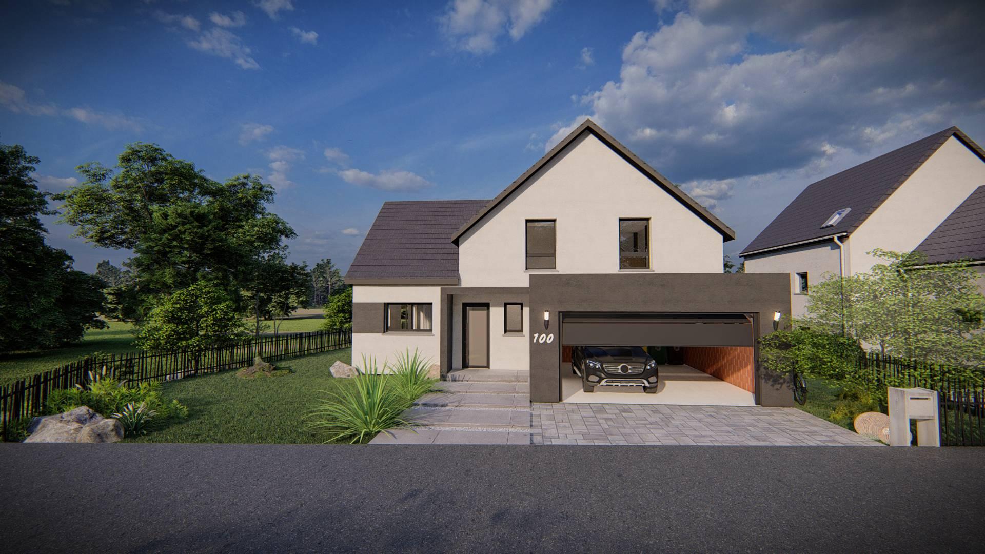 Maisons du constructeur SOCIETE MAISONS HANAU • 140 m² • KRIEGSHEIM