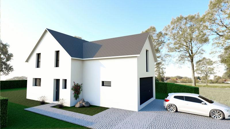 Maisons + Terrains du constructeur LES MAISONS ARLOGIS • 122 m² • STAFFELFELDEN