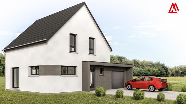 Maisons + Terrains du constructeur LES MAISONS ARLOGIS • 100 m² • RUSTENHART