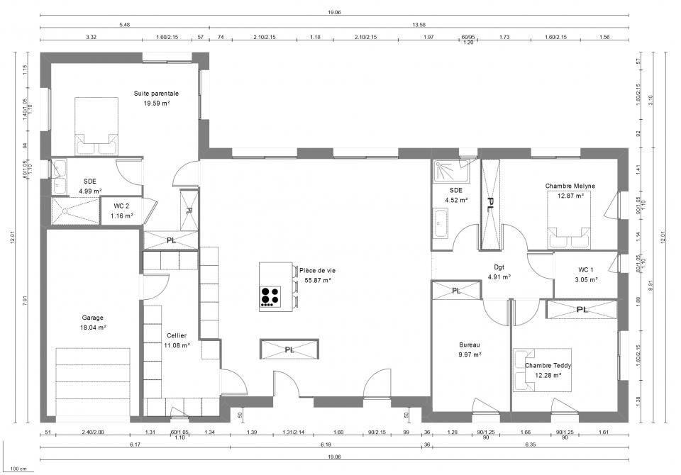 Maisons + Terrains du constructeur MAISONS FRANCE CONFORT • 140 m² • OLIVET