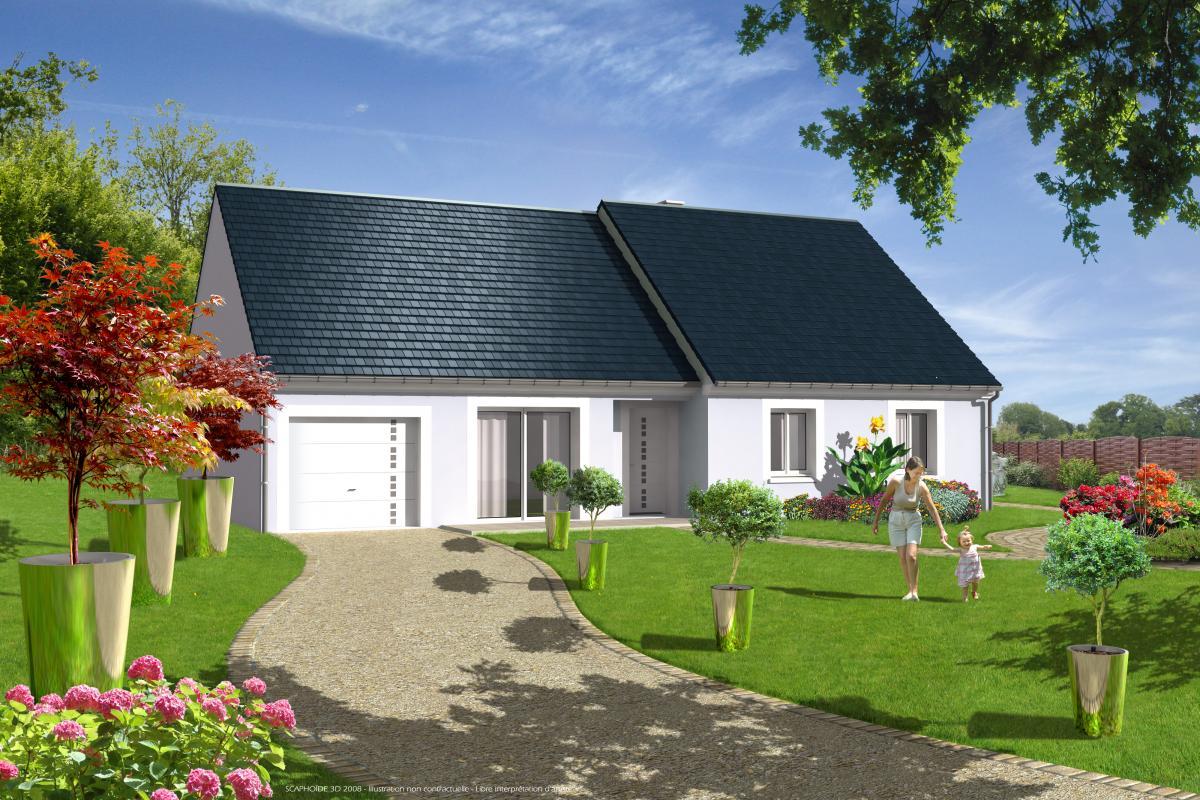 Maisons + Terrains du constructeur LES MAISONS VIGERY • 90 m² • LES MONTILS