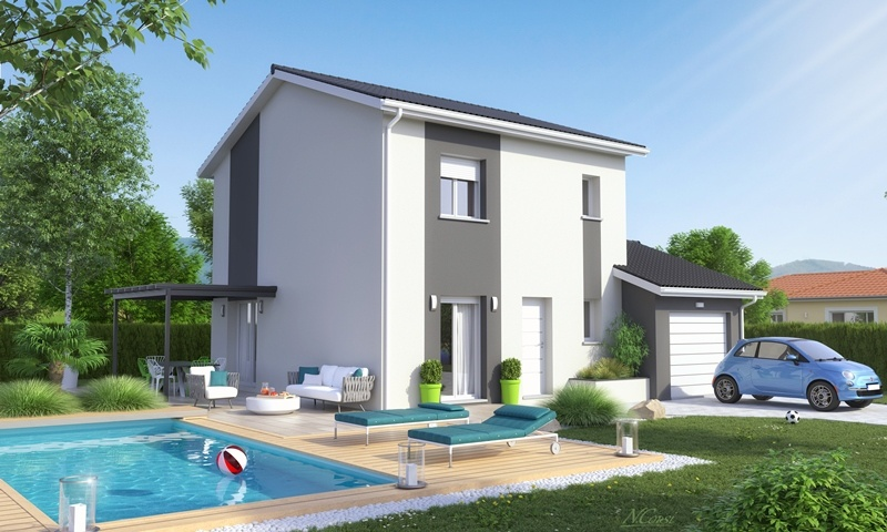Maisons + Terrains du constructeur MAISON AXIAL • 90 m² • SOUCIEU EN JARREST