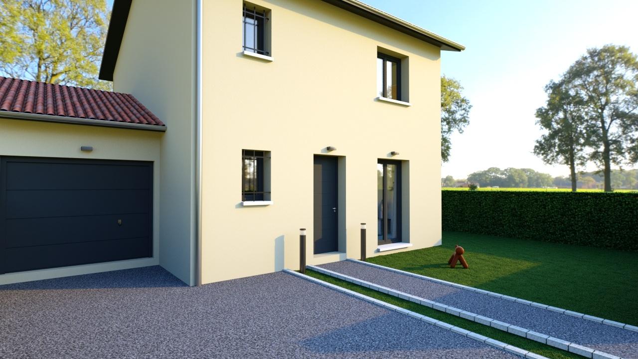 Maisons + Terrains du constructeur MAISONS AXIAL • 91 m² • CONDRIEU