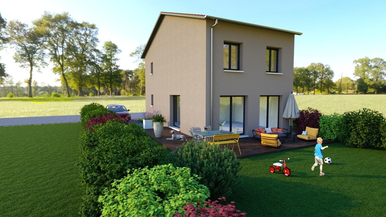 Maisons + Terrains du constructeur MAISONS AXIAL • 90 m² • SAINT ANDEOL LE CHATEAU