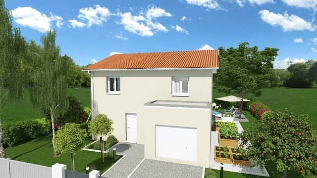 Maisons + Terrains du constructeur MAISONS AXIAL • 110 m² • FLEURIEUX SUR L'ARBRESLE